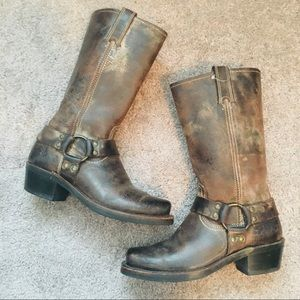 Women's Frye Distressed Riding Boots 7.5